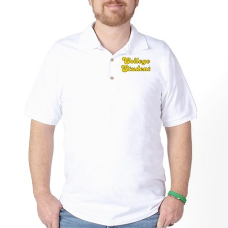 Retro College Stu.. (Gold) Golf Shirt