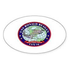 USS Ronald Reagan CVN-76 Oval Decal