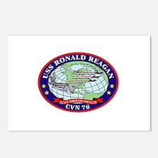 USS Ronald Reagan CVN-76 Postcards (Package of 8)