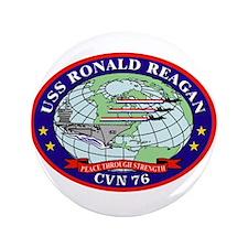 """USS Ronald Reagan CVN-76 3.5"""" Button (100 pack)"""