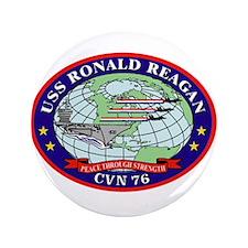 "USS Ronald Reagan CVN-76 3.5"" Button"
