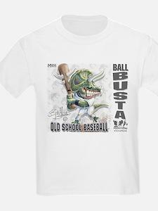 Ball Busta Old School Baseball Kids T-Shirt
