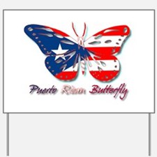 Puerto Rican Butterfly Yard Sign