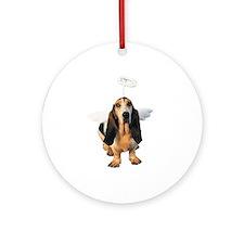 Basset Hound Angel Ornament (Round)