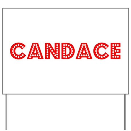 Retro Candace (Red) Yard Sign
