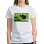 The nose knows Women's T-Shirt