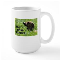 The nose knows Large Mug