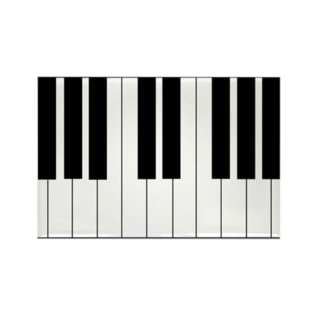 Big Piano Keyboard Rectangle Magnet