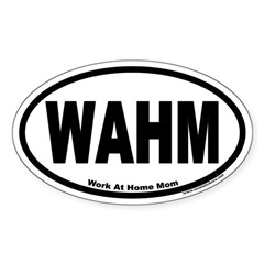 Work At Home Mom WAHM Euro Oval Decal