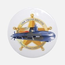 USS Texas SSN-775 Ornament (Round)