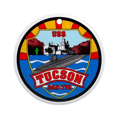 USS Tucson SSN-770 Ornament (Round)