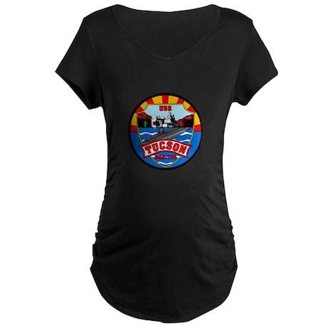 USS Tucson SSN-770 Maternity Dark T-Shirt