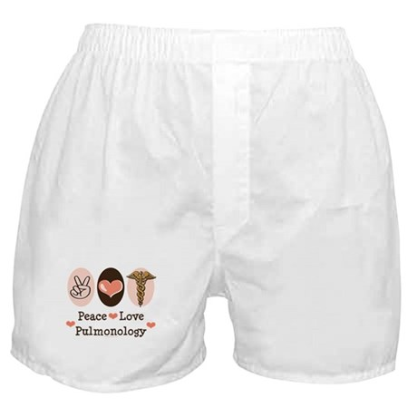 Peace Love Pulmonology Boxer Shorts