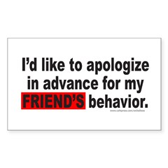 I'D LIKE TO APOLOGIZE Rectangle Sticker 10 pk)