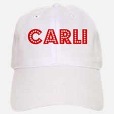 Retro Carli (Red) Baseball Baseball Cap