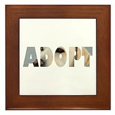 Adopt Dog Cut-Out Framed Tile