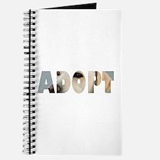 Adopt Dog Cut-Out Journal