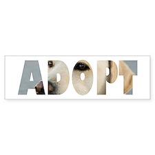 Adopt Dog Cut-Out Bumper Bumper Sticker