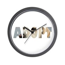 Adopt Dog Cut-Out Wall Clock