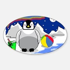 Penguin Dreams Oval Decal