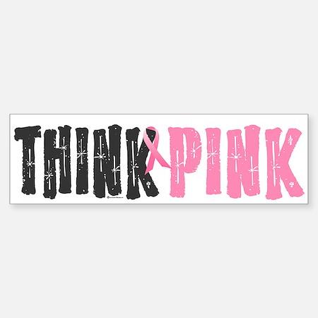 Think Pink Bumper Sticker