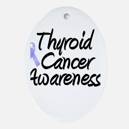 Thyroid Cancer Oval Ornament