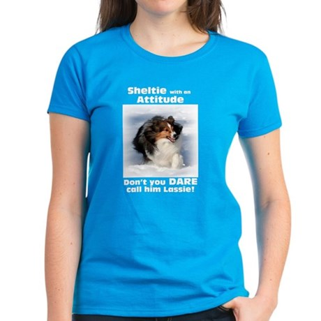 Attitude! Sheltie Women's Dark T-Shirt