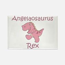 Angelaosaurus Rex Rectangle Magnet