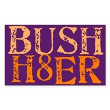 Bush H8er Rectangle Decal