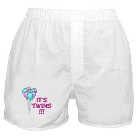 It's Twin Girls Boxer Shorts