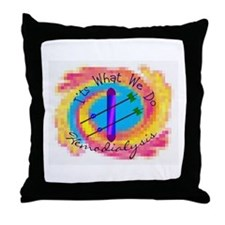 Unique Dialysis tech Throw Pillow