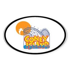 Coney Island Oval Decal