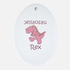 Isabellaosaurus Rex Oval Ornament