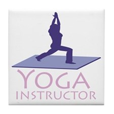Yoga Instructor Tile Coaster