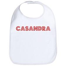 Retro Casandra (Red) Bib