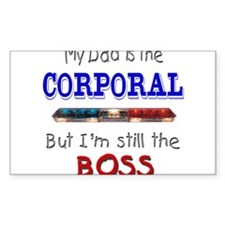 Dad is Corporal Rectangle Decal