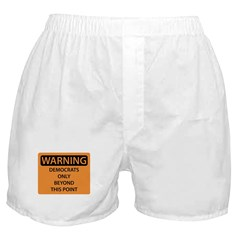 Democrats Only Boxer Shorts