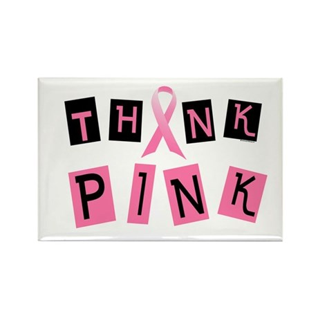 Think Pink 2 Rectangle Magnet (10 pack)
