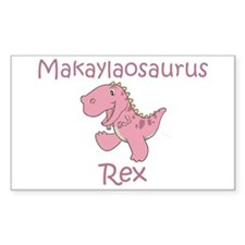 Makaylaosaurus Rex Rectangle Decal