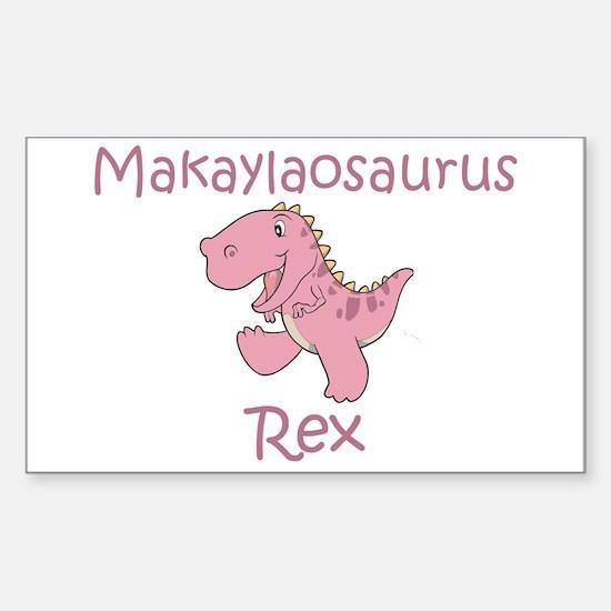 Makaylaosaurus Rex Rectangle Decal