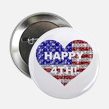 """HAPPY 4TH 2.25"""" Button"""