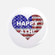 """HAPPY 4TH 3.5"""" Button"""