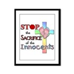 Stop the Sacrifice Framed Panel Print