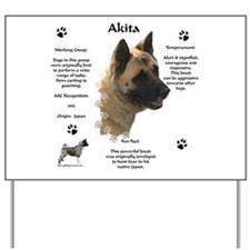 Akita 1 Yard Sign