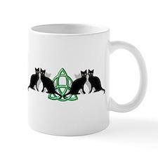 Cats Earth Triquetra Wiccan Mug