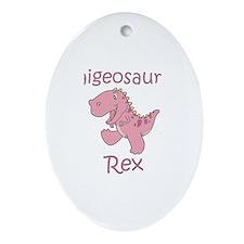 Paigeosaurus Rex Oval Ornament
