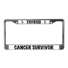 Thyroid Cancer License Plate Frame