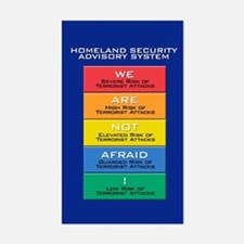 WE ARE NOT AFRAID! Rectangle Decal