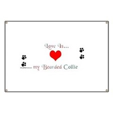 Bearded Collie Love Banner