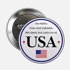 """USA Emblem 2.25"""" Button"""